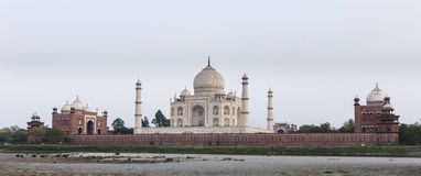 Taj Mahal from the river side Royalty Free Stock Photo