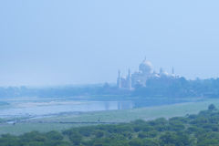 Taj Mahal and river Yamuna. The Taj Mahal and river Yamuna viewed from Red Fort, Agra, India Stock Image