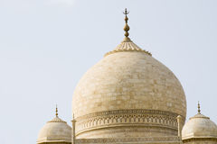 Taj Mahal roof Stock Images