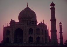 Taj Mahal, rosafarbener Sonnenaufgang Lizenzfreie Stockfotos