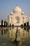 Taj Mahal and it's fountains. Agra, India - 24th November 2013; View fo the Taj Mahal and it's fountains. Taj Mahal is India's most famous monument and is one of Royalty Free Stock Photo
