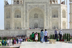 Taj Mahal´s visitors Royalty Free Stock Photography