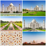 Taj Mahal set Royalty Free Stock Photos