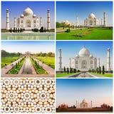 Taj Mahal set Royalty Free Stock Photos