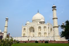 Taj Mahal side view, Agra, India Royalty Free Stock Photo