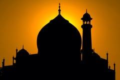Taj Mahal silhouette Royalty Free Stock Image