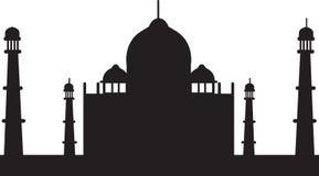 Taj mahal silhouette icon Royalty Free Stock Image