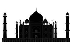 Taj Mahal silhouette royaltyfri illustrationer