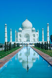 Taj Mahal in soft daily light with blue sky Royalty Free Stock Photos