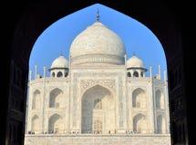 Taj Mahal am Sonnenaufgang, Indien Stockbilder