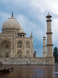 Taj Mahal during a summer storm, India. Lateral view of Taj Mahal during a summer storm, India Stock Photo