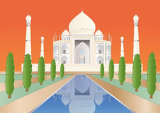 Taj Mahal at sundown Stock Photography