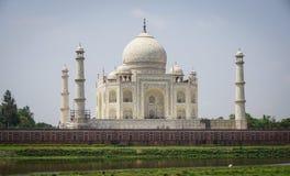 Taj Mahal at sunny day in Agra, India Royalty Free Stock Photos