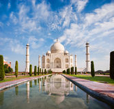 Taj Mahal on a sunny day with beautiful sky Royalty Free Stock Photography