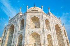 Taj Mahal on a sunny day. Royalty Free Stock Photography