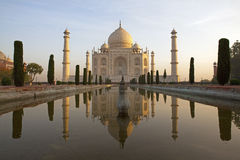 Taj Mahal at sunrise. Royalty Free Stock Photography