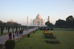 Taj Mahal At Sunrise, Agra, Índia foto de stock royalty free