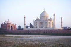 Taj mahal. At sunrise in Agra Royalty Free Stock Image