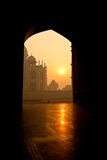 Taj Mahal at Sunrise Stock Photos