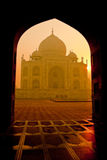 Taj Mahal at Sunrise. Taj Mahal, Agra as the sunrises Royalty Free Stock Image
