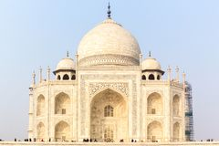 Taj Mahal Sunrise Agra India stock foto