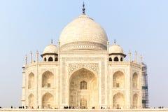 Taj Mahal Sunrise Agra India arkivfoto