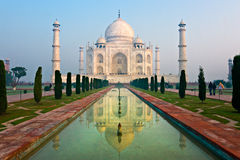 Taj Mahal at sunrise, Agra, Uttar Pradesh, India. Royalty Free Stock Photography