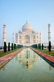 Taj Mahal at sunrise, Agra, Uttar Pradesh, India. Panoramic view of Taj Mahal at sunrise, Agra, Uttar Pradesh, India Royalty Free Stock Images
