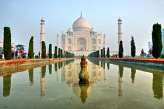 Taj Mahal at sunrise, Agra, Uttar Pradesh, India. Stock Photos
