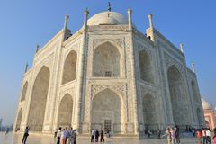 Taj Mahal at Sunrise, India Stock Photo