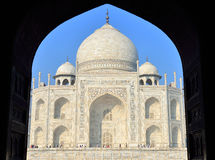 Taj Mahal at Sunrise, India Stock Images