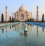 Taj Mahal in sunrise light, Agra, royalty free stock photo