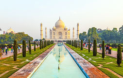 Taj Mahal in sunrise light, Agra, India Royalty Free Stock Photos