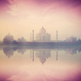 Taj Mahal on sunrise sunset, Agra, India Royalty Free Stock Image