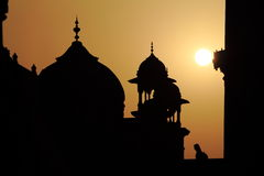 Taj Mahal at Sunset Royalty Free Stock Photography