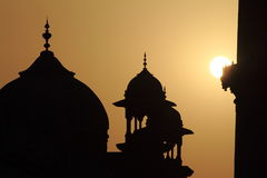 Taj Mahal at Sunset Royalty Free Stock Photos