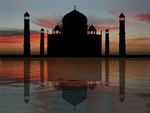 Taj Mahal at sunset Stock Photography