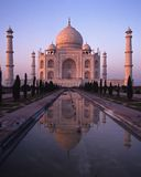 Taj Mahal at sunset, Agra, India. Royalty Free Stock Photo
