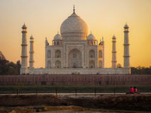 The Taj Mahal at Sunset in Agra, India Royalty Free Stock Images