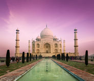 Taj Mahal on sunset, Agra, India Royalty Free Stock Photo