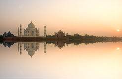 Taj Mahal at sunset, Agra, Uttar Pradesh, India. Royalty Free Stock Photo