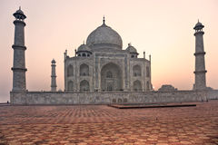 Taj Mahal at sunset, Agra, Uttar Pradesh, India. Stock Photography