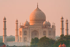 Taj Mahal sunset glow Stock Photo