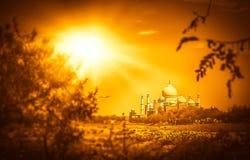 Taj Mahal at sunset Stock Image