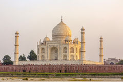 Taj Mahal in sunset Stock Photo
