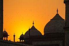 Taj Mahal sunset view Royalty Free Stock Photo