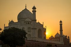 Taj Mahal sunset view Stock Photography