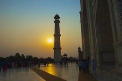 Taj Mahal sunset Royalty Free Stock Image