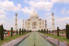 Taj Mahal, The Symbol of Indian Love. Taj Mahal, One of the seven wonders of  the world. This historical monument build by Shahjahan in memory of his wife Mumtaz Stock Photo