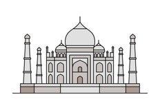 Taj Mahal symbol också vektor för coreldrawillustration vektor illustrationer
